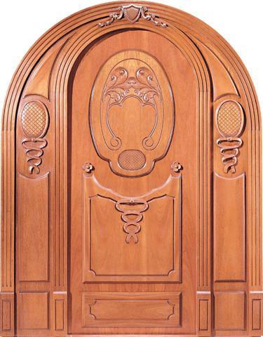 Wood Carved Top of Door Arch