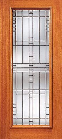 san francisco f096a 064c0 Contemporary Art Deco Beveled Glass Front Door
