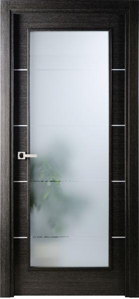Contemporary Modern Interior Door 1 9 16 By Us Door More Inc In Single Door Built From Wood And The Texture Is Black Apricot Avanti Vetro