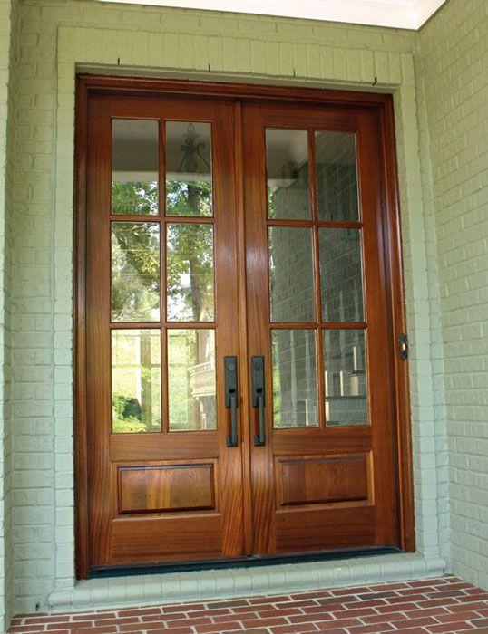 Mahogany Alexandria TDL 6 Lite Double Door