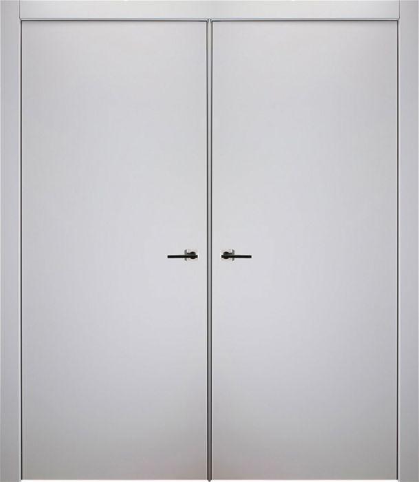 Prefinished Optima Snow White Modern Interior Double Door