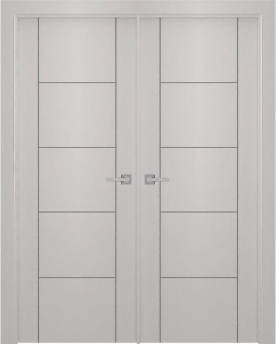 Prefinished Smart Pro 4h2u Polar White Modern Interior Double Door