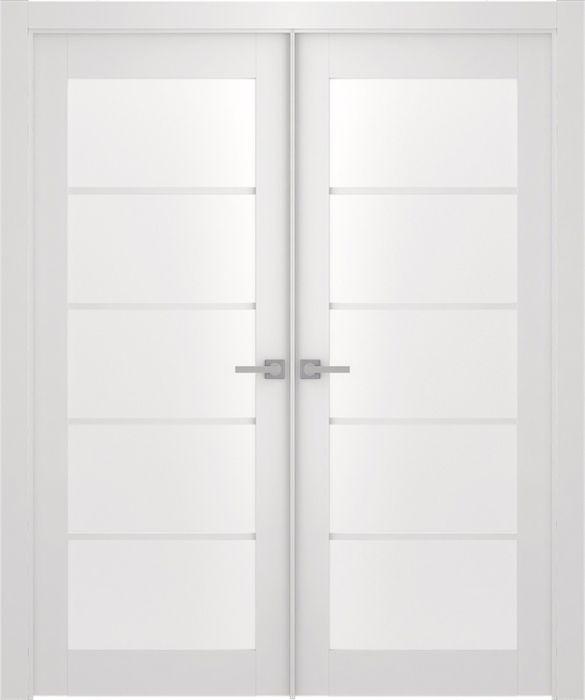 Prefinished Smart Pro 5 Lite Polar White Modern Interior Double Door