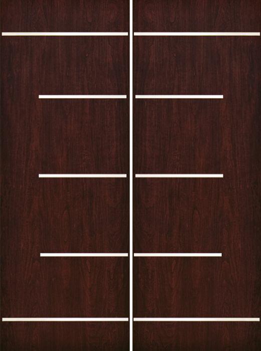 Contemporary Modern Exterior Door 1 3 4 By Escon Door In Double Door Made Of Fiberglass And The Pattern Is Cherry Fc873ss 2