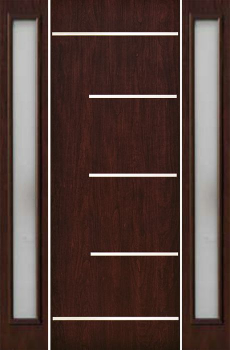Contemporary Modern Exterior Door 1 3 4 By Escon Door In Door With Two Sidelites Built From Fiberglass And The Pattern Is Cherry Fc873ss Fc816dlw 1 2