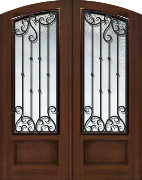 Arch Top Exterior door (1 3/4) by GlassCraft in Double Door