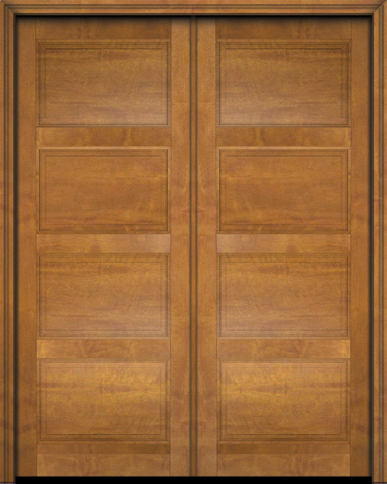 Brass handles Excellent Condition Mahogany four paneled interior door