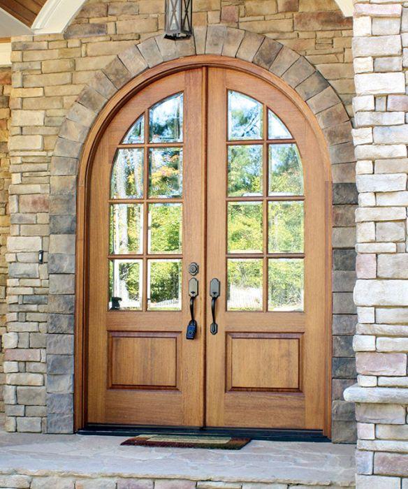 Mahogany Pinehurst Tdl 8lt E 17b, Round Top Doors