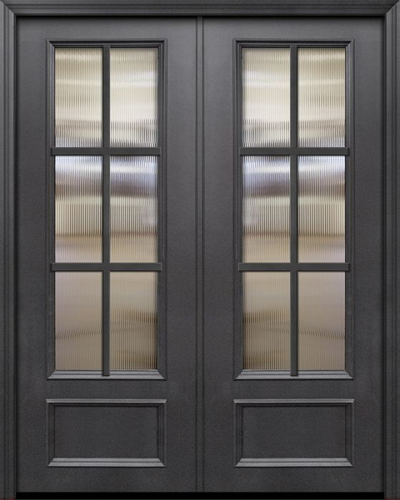 Colonial Exterior French Patio Door 1 3 4 By Glasscraft In Double Door Made Of Steel Or Metal And The Pattern Is T21 Sdl6 Dt834d62