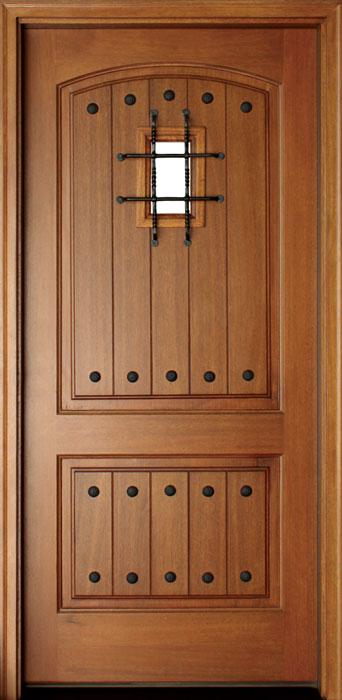 Mahogany Decatur Hendersonville Single Door w Speakeasy, Builder