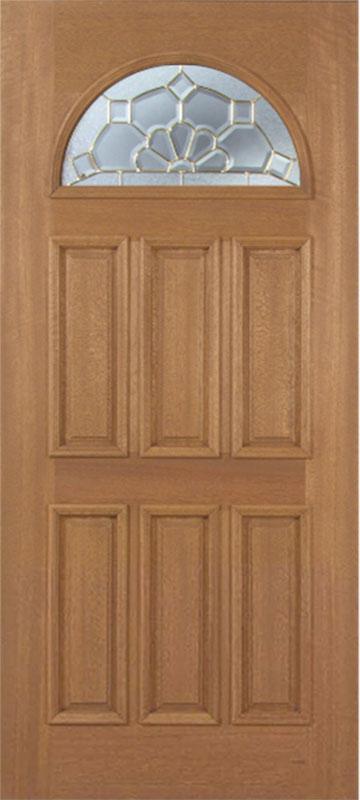 Jefferson Mahogany Exterior Single Door w/ A Glass